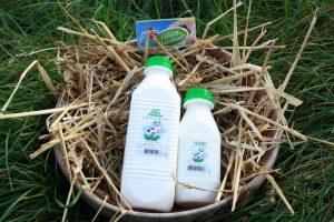 bouteille de lait ribbot - Ferme de la Renaudais - Plouer sur rance - Dinan
