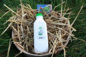 Grande bouteille de lait ribot - Ferme de la Renaudais - Plouer sur rance - Dinan